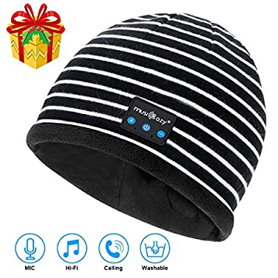 Bluetooth Beanie V5.2 Wireless Beanie Hat with Bluetooth Headphones,Built-in HD Stereo Speakers & Mic,Cool Tech Gadgets Christmas Unique Gifts for Men Women Dad Mom Teen Boys Girls by Musicozy Bluetooth Beanie
