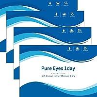 ピュアアイズ ワンデー UV モイスト PureEyes 1day UV moist 【BC】8.6 【PWR】-9.50 30枚入 4箱