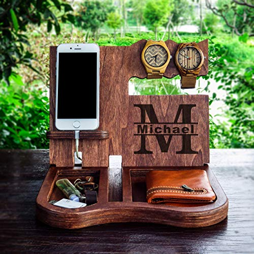 iphone dock,desk organizer,cell phone stand,Men's Valet,Wooden Docking Station,Wood, Cell Phone Dock,Charging Station,Personalized Valet,Night Stand Organize,android dock Docking Station