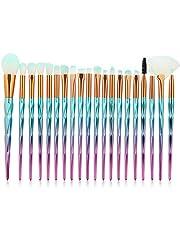 shirylzee Pennelli Make Up Set di pennelli trucco 20 Pennelli per il Make-up Professionali, Eyeliner, Ombretto, Sopracciglia