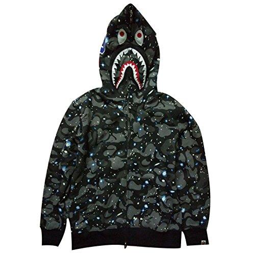 sissiren Herren Leuchtend Himmel Hoodie Kapuzenpullover Unisex Kapuzen-Sweatshirt mit Samt, Camouflage, L