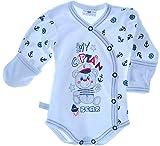 La Bortini Body 50-92 Babybody Baby Wickelbody Langarm Erstlingsbody Reborn Frühchen Unisex (80)