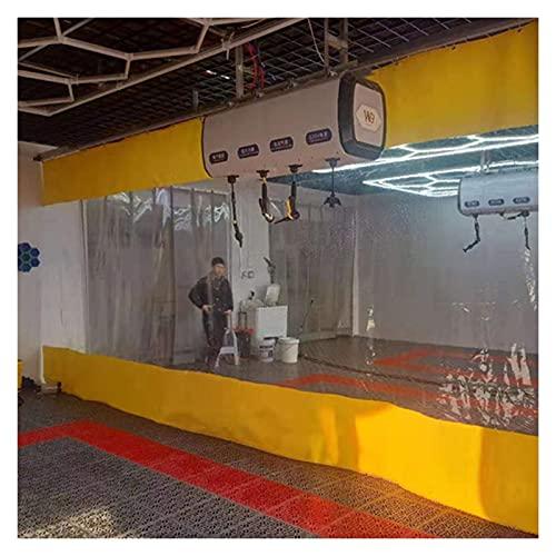 AWSAD Tenda Impermeabile Trasparente Tenda Divisoria Protezione Ambientale Resistente allo Strappo per Balcone Terrazza Padiglione, 26 Taglie (Color : Yellow, Size : 2x3m)