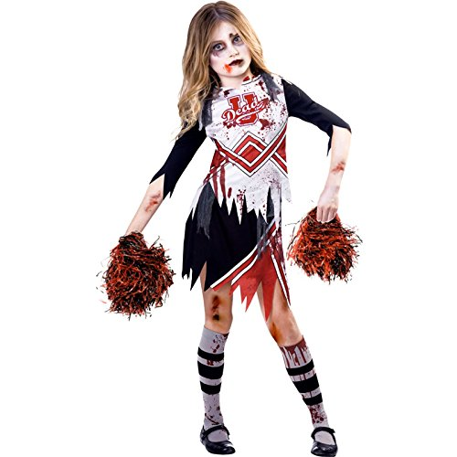 amscan 9902691 - Disfraz de animadora zombi, edad 7-8 años, 1 unidad
