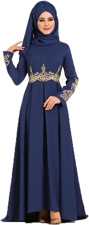 GUOXING Now free shipping Muslim Special sale item Dress High Waist Elegant Big Dr Temperament Swing