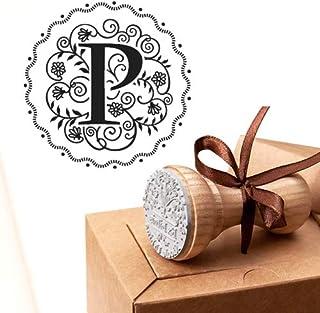 Timbro Lettera P Iniziali Timbri Lettere Alfabeto Monogramma P Idee Regalo Aziendale