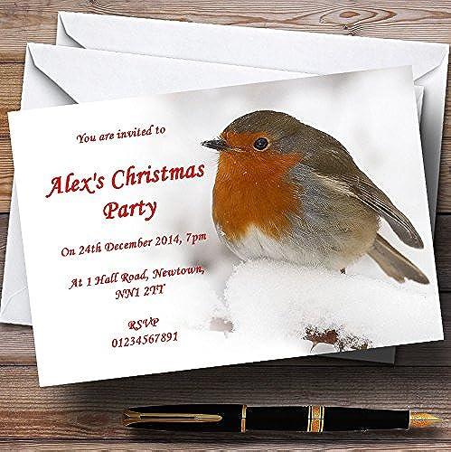 cómodo Impresionante Robin Navidad personalizable personalizable personalizable invitaciones de fiesta XI41  a la venta