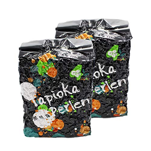 2er Pack (2x3kg) Schwarze Tapioka Perlen (Papa Vo®)