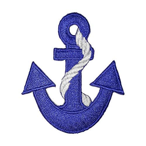 Lucky Patches, Aufnäher, Applikation, Aufbügler, Iron on Patch - Anker, Marine, Seemann, Kapiän, Boot, Schiff, Pirat - 5,7 x 6,5 cm