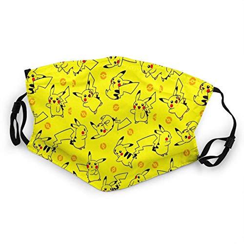 Pikachu Yellow Mundschutz Anti-Staub waschbar wiederverwendbarer Mundschutz Modedesign für Kinder Jungen Mädchen Teenager