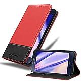 Cadorabo Coque pour Samsung Galaxy A3 2015 en Rouge Noir - Housse Protection avec Fermoire...