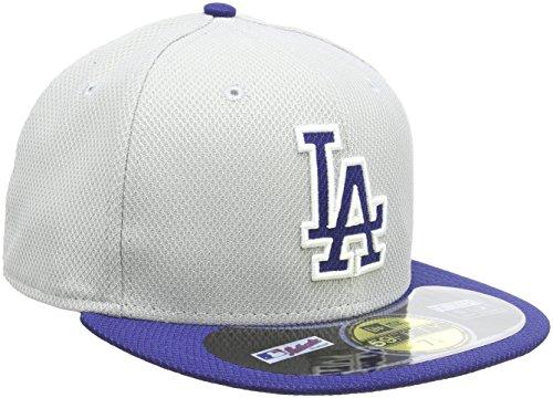 New Era Rodmann Gorra Gorro MLB Diamond ERA LA Dodgers 59 de Béisbol Gris Team Talla:7