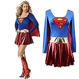 Superwoman Dress Superman Cosplay Disfraces Para Adultos y Niñas Halloween Super Girl Suit Superhero Wonder Woman Super Hero