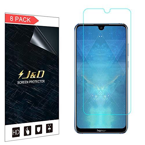 J&D Compatible para 8-Pack Honor 8X MAX Protector de Pantalla, [NO Cobertura Completa] Prima Escudo de Película Transparente HD Protector de Pantalla para Huawei Honor 8X MAX - [No para Honor 8X]
