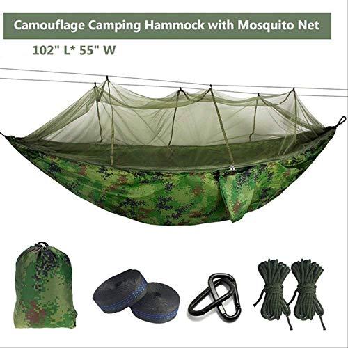 Générique Hamac de Parachute de moustiquaire Ultra-léger avec piqûres Anti-moustiques pour Tente de Camping en Plein air à l'aide de Couchage Livraison Gratuite Camo