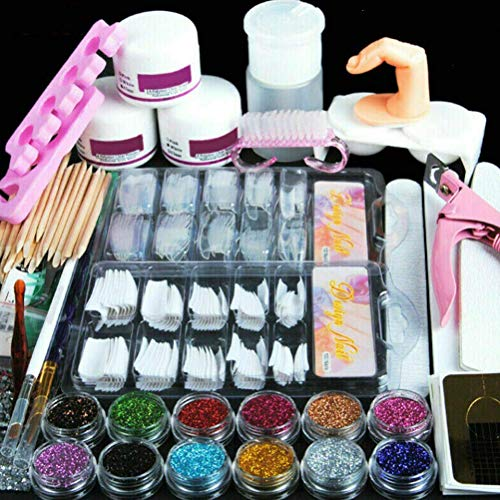 Saint-Acior Uñas de Gel Accesorio para Manicura UV GEL Uñas Postizas Lima de Uñas DIY Uña Arte Herramiento para Nail Art Juego Completo Kit