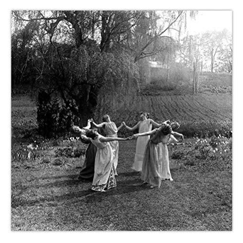 yyygg Kit de Pintura con Brillantes 5D Mujeres Bailando en círculo Pintura de Diamante para el hogar Decoración de la Pared Regalo Sin Marco 40 x 50 cm