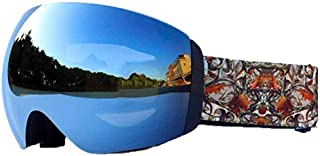 Skibril volwassen dubbel/permanent anti-condens/winddichte bergbril dames jeugd sneeuwscooter snowboard grote bol, groen (...
