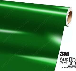 3M 1080 G336 Gloss Green Envy 3in x 5in (Sample Size) Car Wrap Vinyl Film