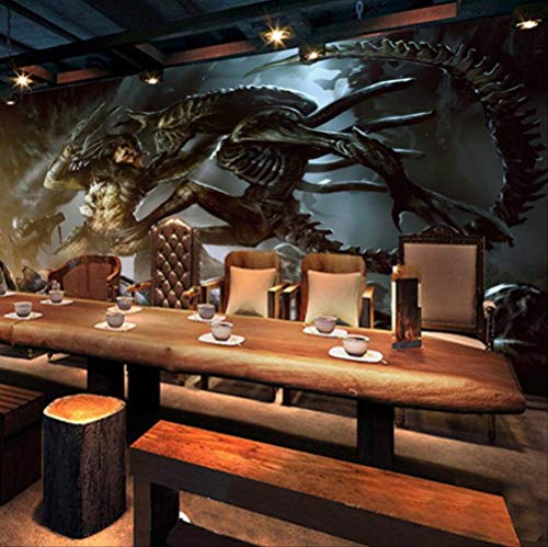 Alien vs.Predator game background wall painting custom large-scale mural cloth wallpaper papel...