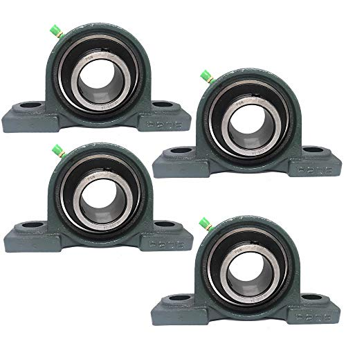 "PGN - UCP208-24 Pillow Block Mounted Ball Bearing 1-1/2"" Bore Self Aligning Cast (4 PCS)"
