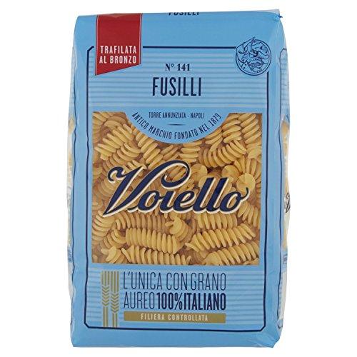 Voiello Pasta Fusilli N.141, Pasta Corta di Semola Grano Aureo 100% - 500 g