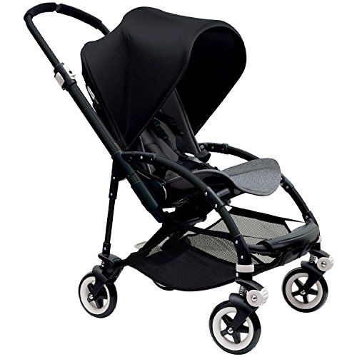 Review Bugaboo Bee 3 Black Frame Stroller With Grey Melange Seat (Black)