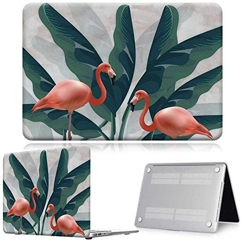 SYSONE For Apple MacBook Air Pro Retina 11 12 13 15 with Touch Bar- Print Flamingo Hard Shell Laptop cover case,S,Air 13 A1369 A1466