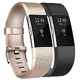 Tobfit Fitbit Charge 2 Bracelets l'acier Inoxydable Secure Boucle Remplacement...