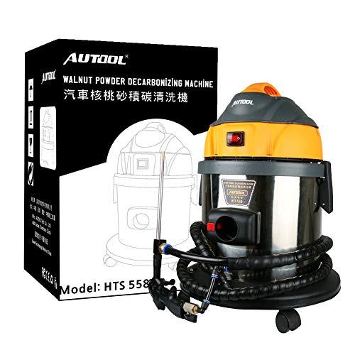 AUTOOL HTS 558 Limpiadores del sistema del motor Tubo de admisión Máquina de limpieza de válvulas Sistema Valvetronic Polvo de nuez Arena Limpiador de depósitos de carbono