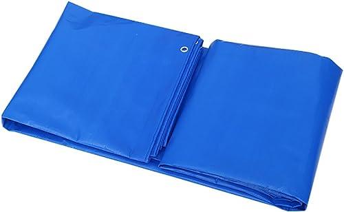 Z&YY La Feuille résistante de bache de Tarpauline épaisse imperméable Bleue Couvre Le Tissu extérieur versé de bache antipluie