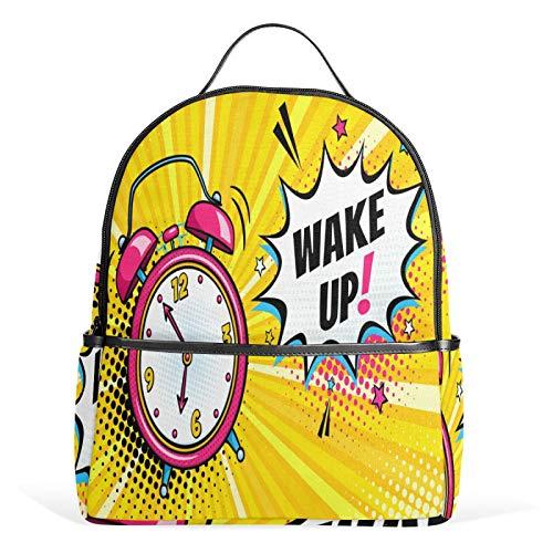 JinDoDo - Mochila con diseño de reloj despertador, color rosa