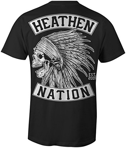 Heathen Men's Chief T-Shirt (Large) Black