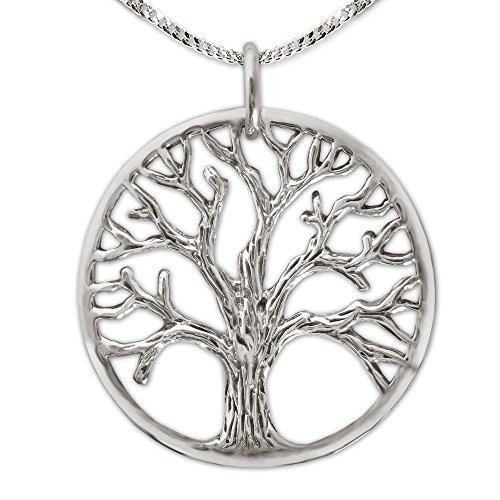 Clever Juego de joyas plateado colgante vida árbol Diámetr