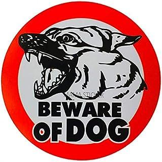 MAMA STICKER Bumper Attention Beware of Dog German Shepherd Circle Fierce Decal Symbol Sign Safety Security Warning Alert ...