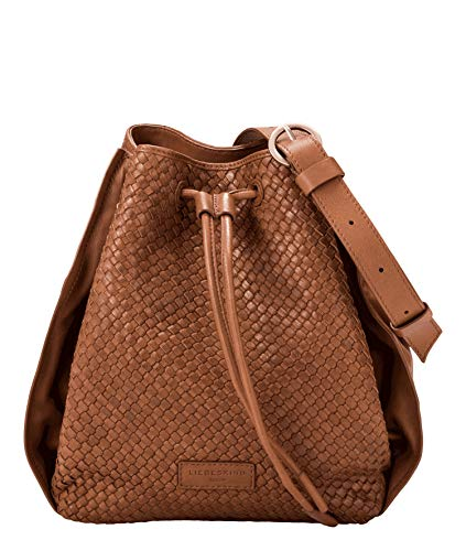 Liebeskind Berlin Damen Santa Fe Bucket Bag Umhängetasche, medium brown, 30x28x11 cm