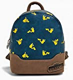 Loungefly x Pokemon Detective Pikachu Allover-Print Mini Backpack (One Size, Multicolored)