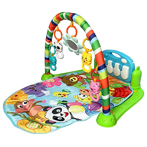 ZXZCHGN Baby Play Mat, Activity Gym, with Piano Keyboard Baby Kick and Play Piano Gym with Activity Centre, for Infants Baby Kick Play Piano Gym