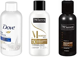 TRESemmé Moisture Rich Shampoo & Conditioner with Dove Deep Moisturizing Body Wash. All Your Personal Care Essentials in T...