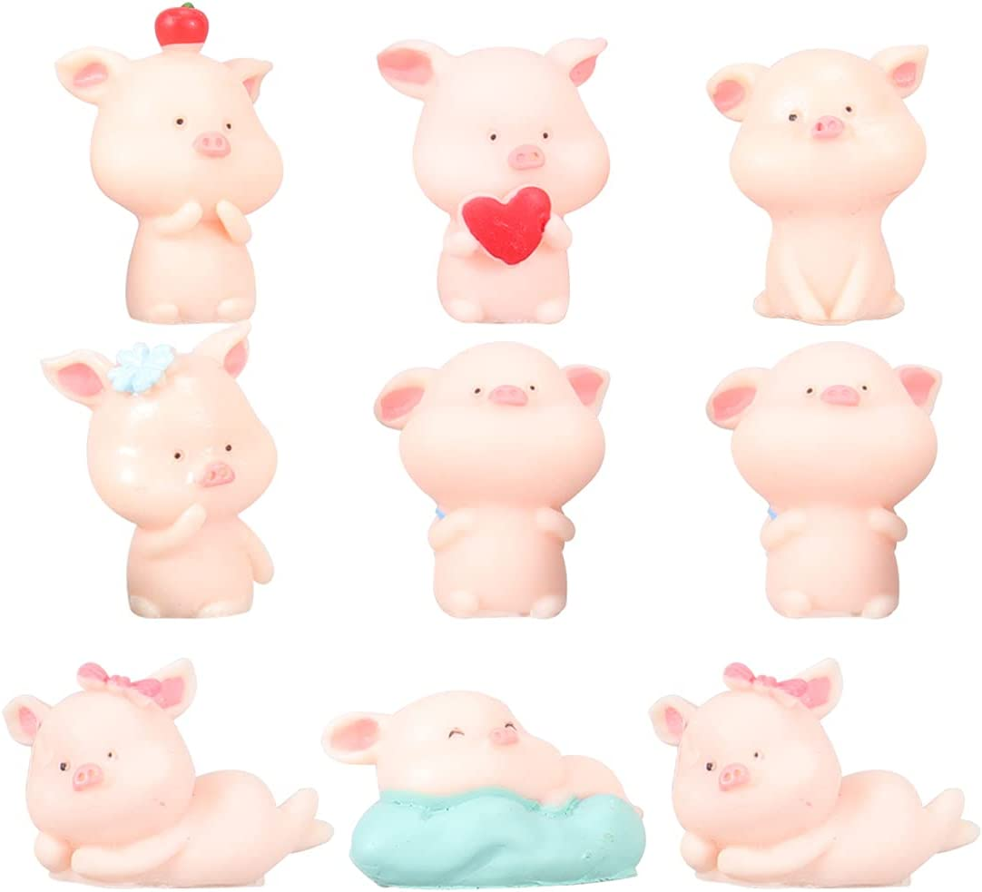 Abaodam 9PCS Micro Landscape Resin Pig Over item handling ☆ Potted Ranking TOP13 Craft Ornaments Bo