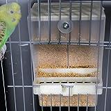 Balacoo Sittichfutterautomat ohne Käfigfutterautomat Papagei Futterautomat für Finken Kanarienvogel Nymphensittichsamen Futterbehälter Vogelkäfigzubehör