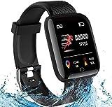 Smart Watch in touch screen HD, fitness tracker da 1,3 pollici con monitor, sleep tracker, contapassi, cronometro, orologio fitness impermeabile IP67 funziona con iOS/Android per uomo/donna