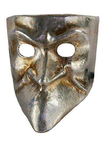 Venezianische Maske Bauta argento in silber zu Karneval Fasching