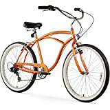 Firmstrong Urban Man Beach Cruiser Bike, Mens Bicycle 26-Inch, 3-Speed, Orange