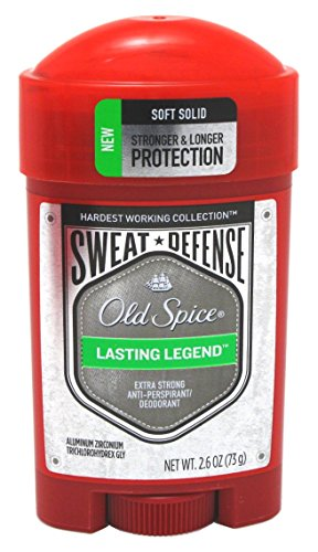 Old Spice Anti-Perspirant 2.6 Ounce Lastin Legend Soft Solid (76ml) (3 Pack)