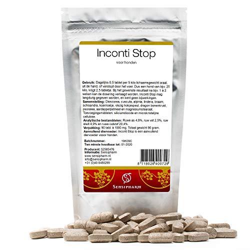 Sensipharm Inconti Stop für Hunde 90 Tabletten - Hilft Natürlich bei Inkontinenz (Blasenschwäche)