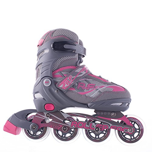 Rollerface Patines Modelo Switch 3, Rosa, Grande (25-27)