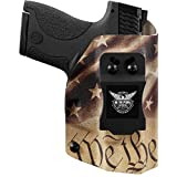 We The People Holsters - Constitution - Right Hand - IWB Holster Compatible with Smith & Wesson M&P Bodyguard 380 Crimson Trace Laser