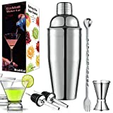 Cocktail Shaker Set -25oz Martini Drink Shaker 18/8 Stainless...