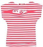 Miss Sixty - Camiseta Casual de Manga Corta para niña, Talla 8 ANS - Talla Francesa, Color (Rayure Blanche Et Fuschia)